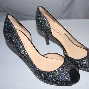 Kelly & Katie Jubilee 2 Pumps Black Glitter Heels